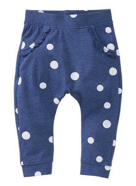 baby broek blauw blauw - 1000008329 - HEMA