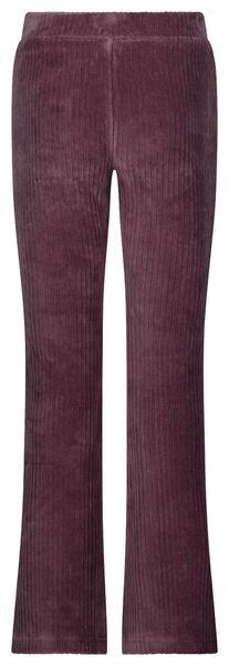 kinderlegging flared corduroy paars paars - 1000024711 - HEMA