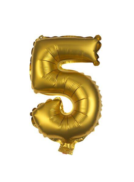 folieballon 5 - goud 5 goud - 60800505 - HEMA