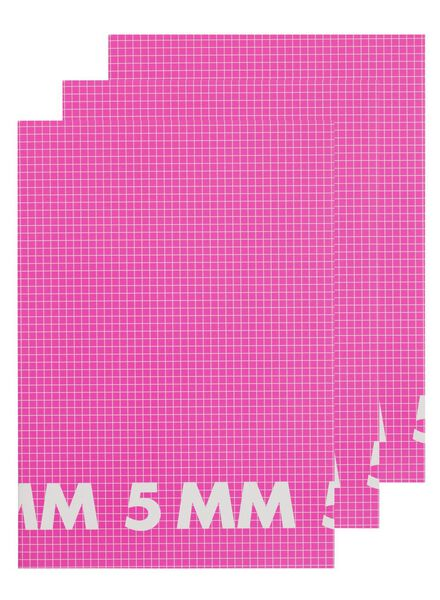 3-pak schriften A4 geruit 5 mm - 14522511 - HEMA