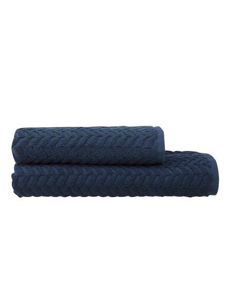 handdoek zware kwaliteit 50 x 100 - jeansblauw - 5240183 - HEMA
