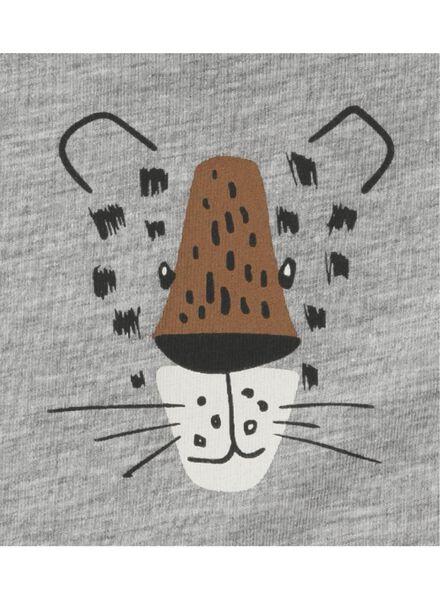 2-pak kinderhemden grijsmelange grijsmelange - 1000011499 - HEMA