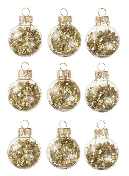 9-pak glazen kerstballen - 25105727 - HEMA