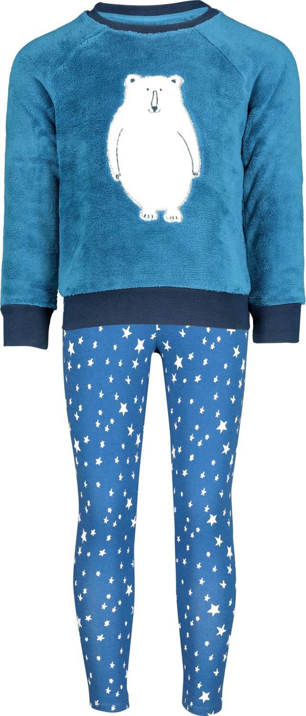 HEMA Kinderpyjama Ijsbeer Blauw (blauw)