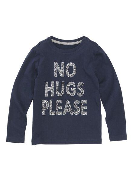 kinder t-shirt donkerblauw - 1000004218 - HEMA