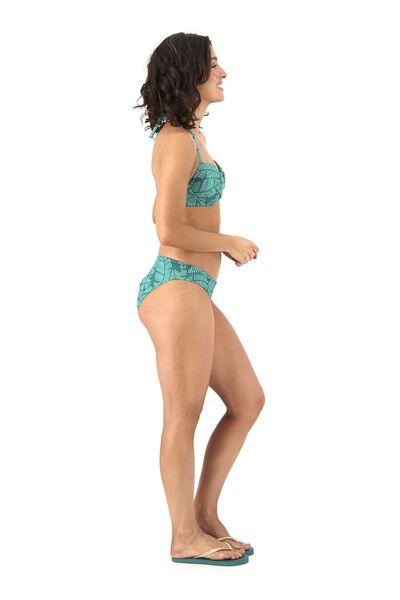 dames padded bikinitop push up groen groen - 1000017925 - HEMA