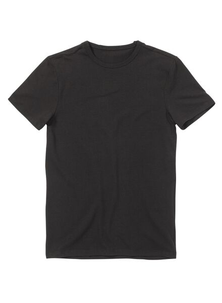 heren t-shirt slim-fit zwart - 1000005976 - HEMA