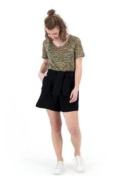 dames t-shirt olijf olijf - 1000019515 - HEMA