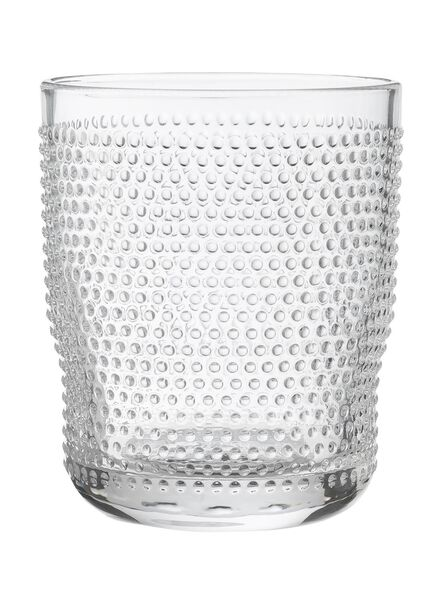waterglas Bergen bolletjes reliëf 360ml - 9402009 - HEMA