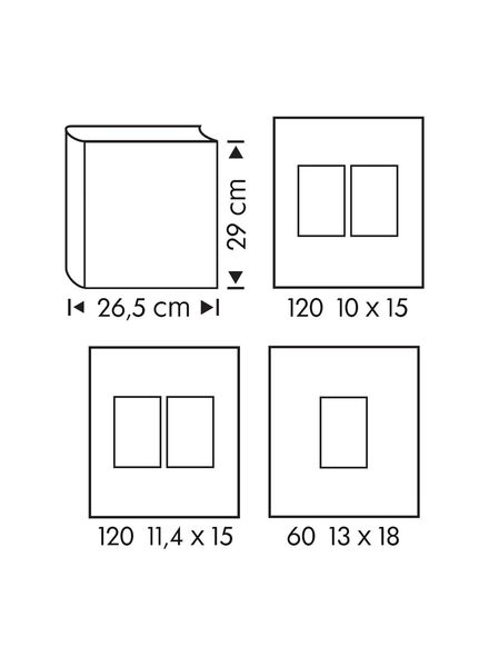 fotoalbum met venster 29x26.5 zilver - 14633318 - HEMA