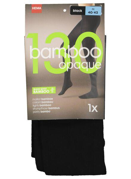 maillot met bamboe 130 denier zwart zwart - 1000001203 - HEMA