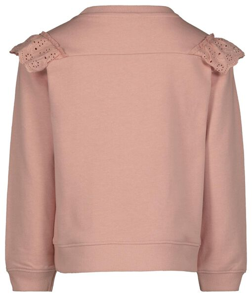 kindersweater broderie roze roze - 1000021976 - HEMA