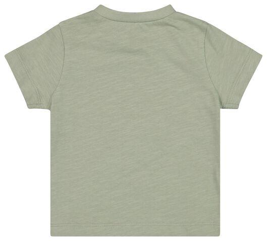 baby t-shirt olijf 80 - 33127604 - HEMA