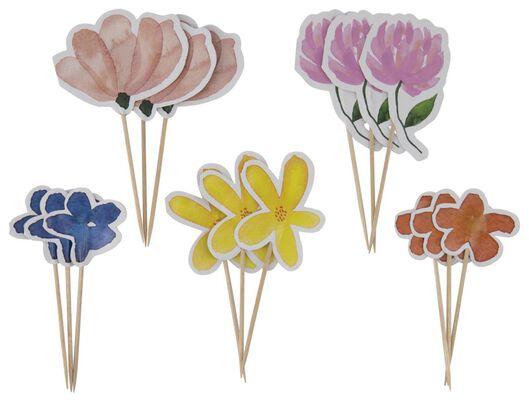 cocktailprikkers 10cm bloemen - 15 stuks - 14200438 - HEMA