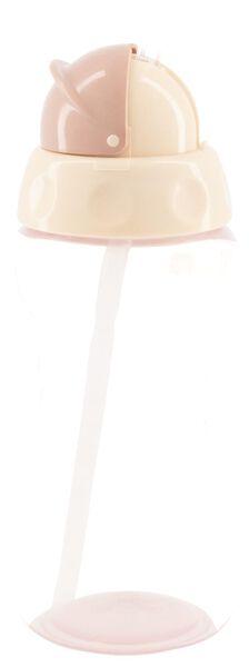 drinkfles met rietje 300 ml - roze - 33503130 - HEMA