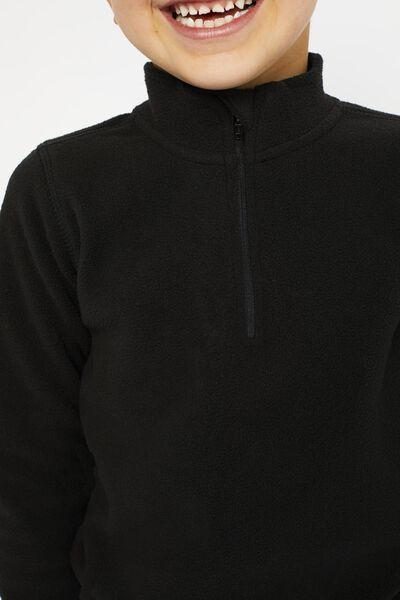 kinder skipully fleece zwart zwart - 1000021612 - HEMA