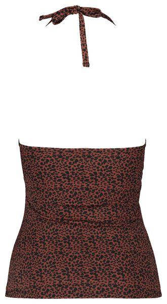 dames tankini strapless medium control donkerrood donkerrood - 1000017945 - HEMA