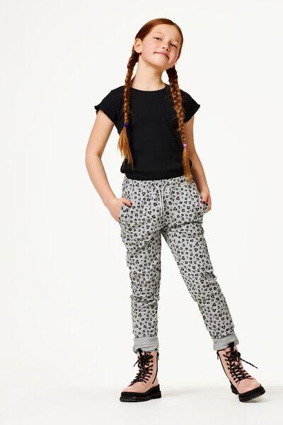 kinder t-shirt rib zwart zwart - 1000023587 - HEMA
