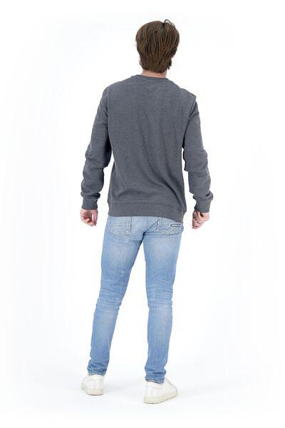 herensweater crewneck donkerblauw XL - 34250758 - HEMA