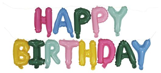 folieballon Happy Birthday - 14200196 - HEMA