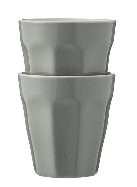 mokken - 90 ml - Mirabeau - lichtgrijs - 2 stuks 9cl lichtgrijs - 9680043 - HEMA