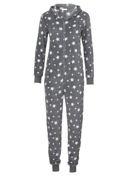 dames fleece onesie grijs grijs - 1000002924 - HEMA
