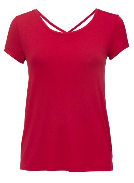 dames t-shirt rood rood - 1000007651 - HEMA