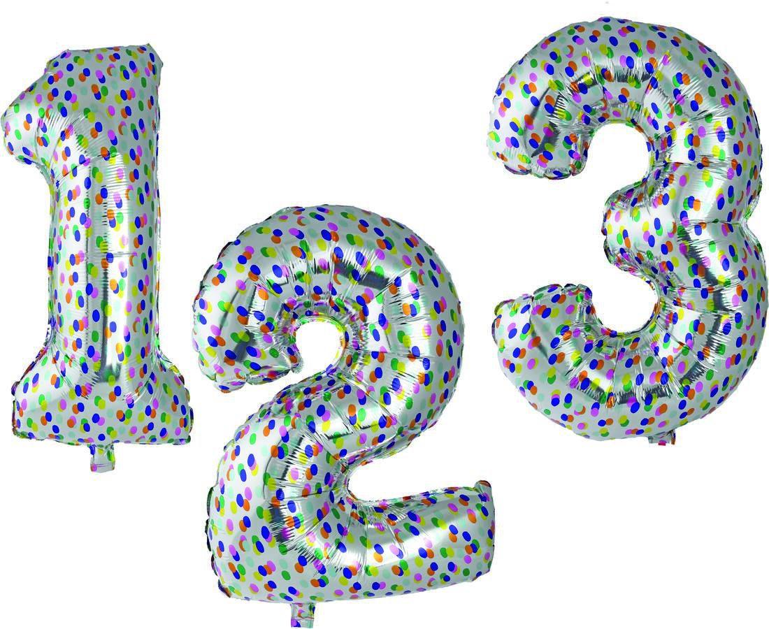 HEMA Folieballon XL Cijfers 0-9 Confetti Zilver (zilver)