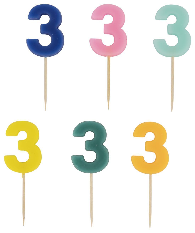 HEMA Taartkaarsje - Cijfer 3