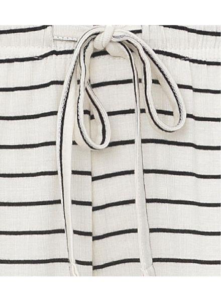 dames pyjamabroek viscose zwart/wit zwart/wit - 1000013163 - HEMA
