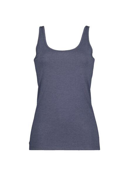damessinglet donkerblauw donkerblauw - 1000014515 - HEMA