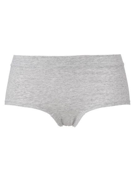 damesboxer real lasting cotton grijsmelange grijsmelange - 1000012251 - HEMA