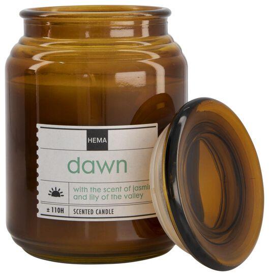 geurkaars in glazen pot Ø10x14 dawn - 13502487 - HEMA