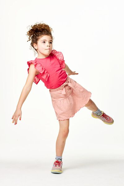 kinderrok broderie roze roze - 1000023161 - HEMA