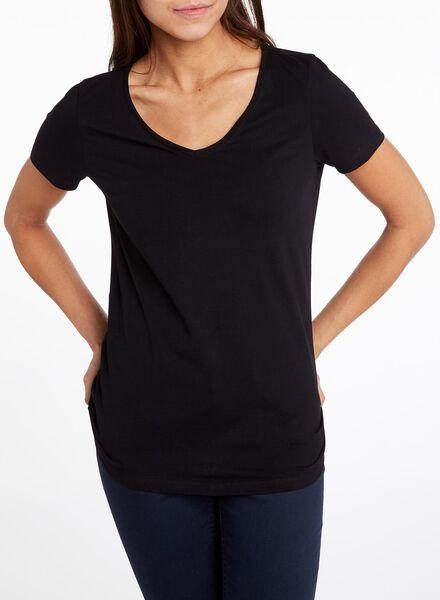 dames t-shirt zwart zwart - 1000004632 - HEMA