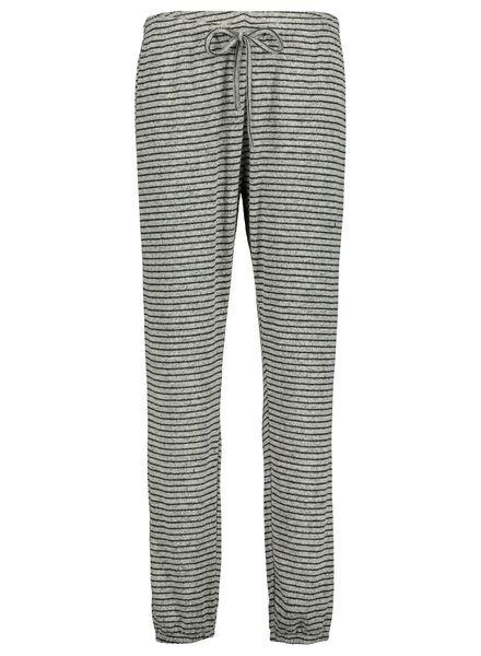 dames pyjamabroek grijsmelange grijsmelange - 1000017236 - HEMA