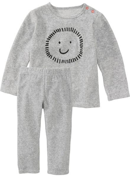 babypyjama grijsmelange - 1000008808 - HEMA