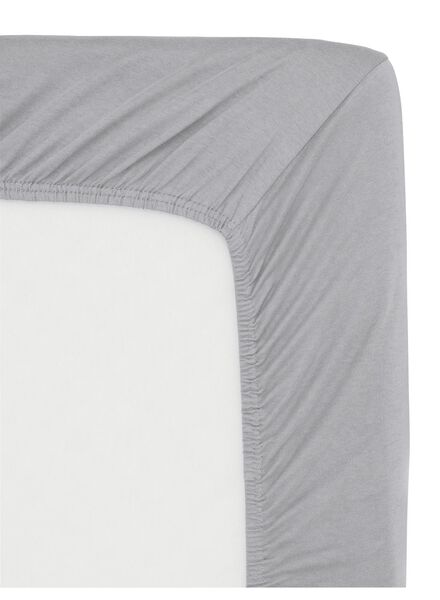 hoeslaken - jersey katoen - 160 x 200 cm - lichtgrijs - 5140109 - HEMA
