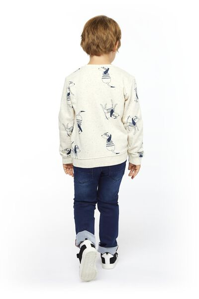 kinderjeans skinny fit donkerblauw 110 - 30770333 - HEMA