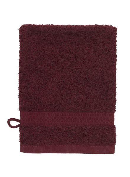 washand - zware kwaliteit - bordeaux donkerrood washandje - 5220007 - HEMA