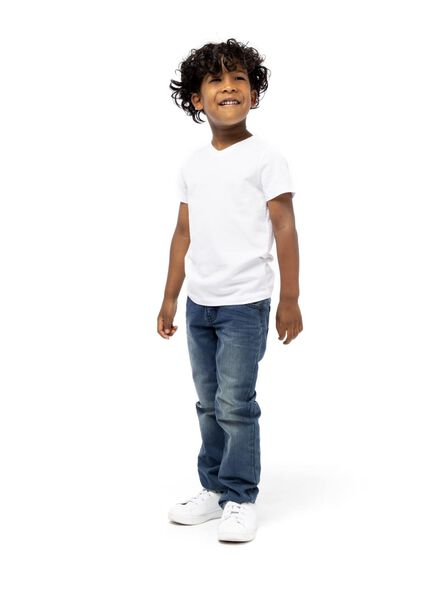 2-pak kinder t-shirt - biologisch katoen wi wi - 1000003438 - HEMA