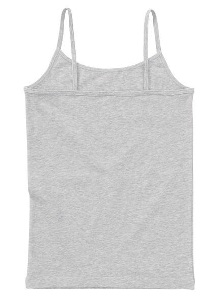 2-pak meisjeshemd grijsmelange grijsmelange - 1000001703 - HEMA