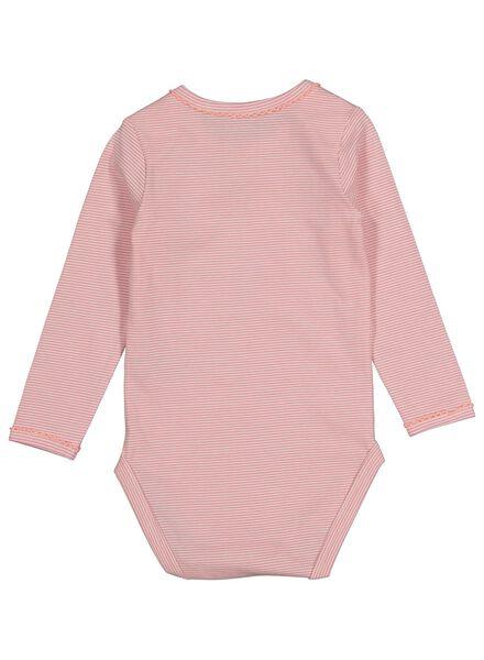 romper biologisch katoen stretch roze roze - 1000015076 - HEMA