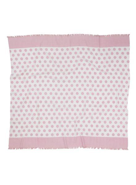 hamamdoek 160 x 180 cm roze 160 x 180 - 5210046 - HEMA