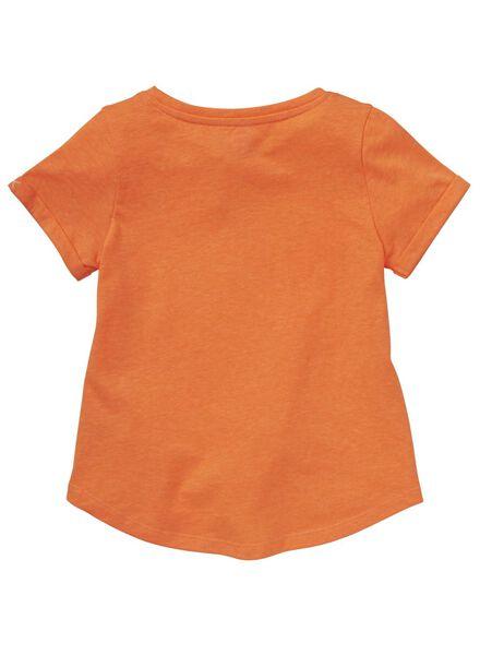 kinder t-shirt oranje oranje - 1000012491 - HEMA