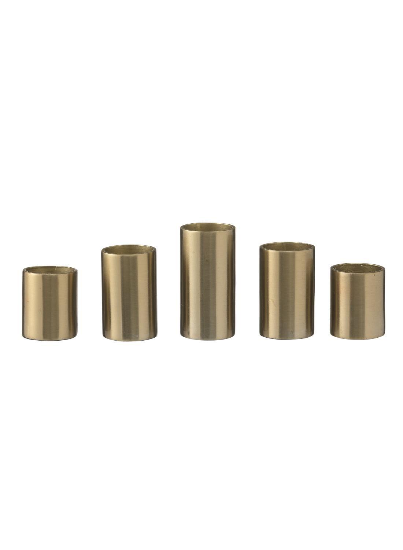 HEMA Kaarshouders Magnetisch - 5 X Ø 2.3 - Goud - 5 Stuks (goud)