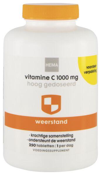 vitamine C 1000 mg hoog gedoseerd 250 stuks - 11460002 - HEMA