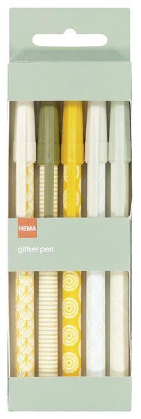 pennenset print - 5 stuks - 14590378 - HEMA