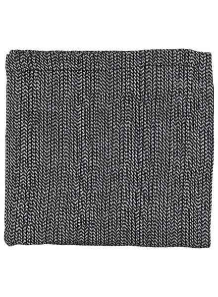 servet - 47 x 47 - chambray katoen - zwart/wit - 5300071 - HEMA