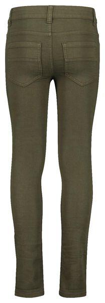 kinder jeans comfy fit donkergroen donkergroen - 1000017879 - HEMA